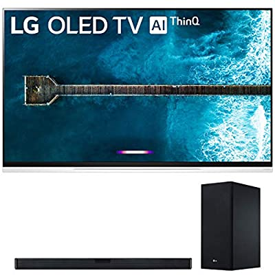 """LG OLED65E9P 65"""" (3840 x 2160) 4K Ultra High Definition Smart OLED TV with the LG SL6Y 3.1 Channel Hi-Res SoundBar with DTS Virtual:X (2019) by LG"""
