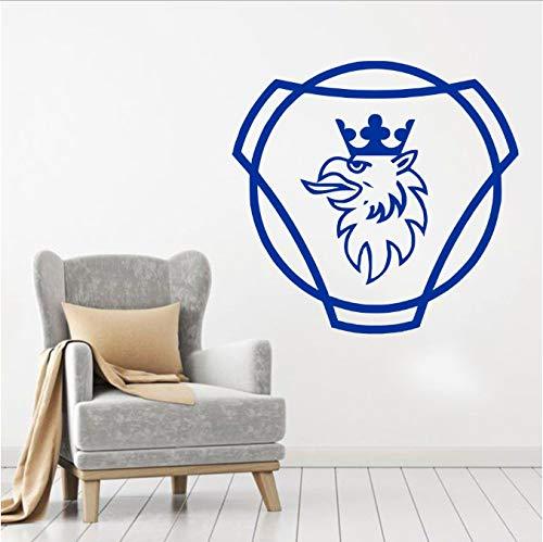 bingcheng Vinyl Aufkleber Scania Logo Wandaufkleber Removable Home Decor Schlafzimmer Wohnzimmer Kunst DIY Curving Home Poster 57X60 cm