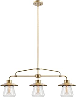 Globe Electric 65988 Nate Pendant, Brass
