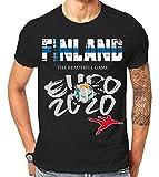 Scralandore Design Finlandia 2020 - Camiseta deportiva para aficionados al fútbol Negro Negro ( 46
