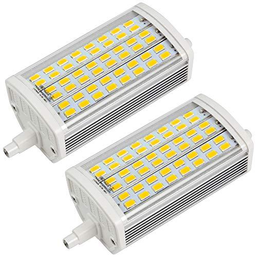 MENGS 2 Stück 15W R7S LED Lampe Nicht Dimmbar 118mm Leuchtmittel Warmweiß 3000K zweiseitige Sockel R7s Birne Ersatz 120W Halogenlampe 200 Grad 700lm AC 85-265V für Flutlicht Ersatzlampe(ohne Lüfter)