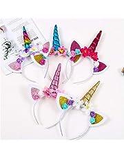 Unicornio Diadema 5pcs, Diademas De Unicornio, Vendas Del Unicornio,Unicornio Vendas, Diadema Unicornio Niña Cumpleaños, Diadema Unicornio Mujer
