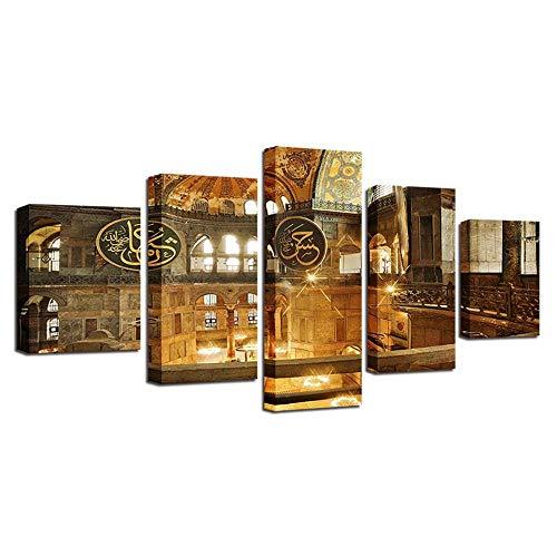 Impresiones De Lienzo Iglesia Cuadro En Lienzo - Impresión Artística - Decoracion De Pared - Lienzo Decoración Salón Dormitorios Baño Con Mural (Xl)