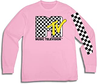 MTV Mens Long Sleeve Shirt - #TBT Mens 1980's Clothing - I Want My T-Shirt