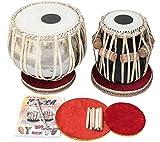 Naad Juego de tambor de mesa indio, 4 kg, latón cromado, Bayan, Finest Sheesham Dayan