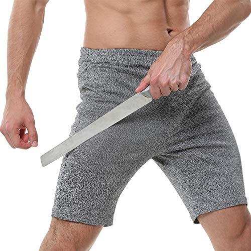 TBDLG Stichfeste Kurze Hose, Security Anti Messer Weiche unsichtbare Weste, mit Schutz für Körper Männer Frauen Polizei,XL