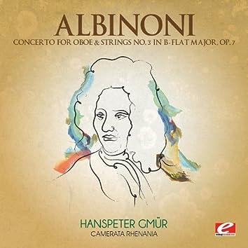 Albinoni: Concerto for Oboe & Strings No. 3 in B-Flat Major, Op. 7 (Digitally Remastered)