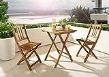 SAM Gartenstuhl Blossom, Akazie-Holz massiv, Holzbank ideal für Balkon Garten Terrasse, zusammenklappbar - 3