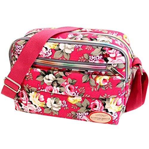 Sale Clearance Women Handbags Halijack Ladies Vintage Printing Canvas Messenger Bag College Girl Casual Travel Purse Cosmetic Bag Summer Beach Bag Small Shoulder Bag Crossbody Bag (Black)