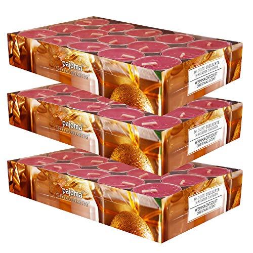 90 pajoma Duft Teelichter 3x30 Stück Duftkerzen viele Düfte wählbar (Weihnachtsduft)