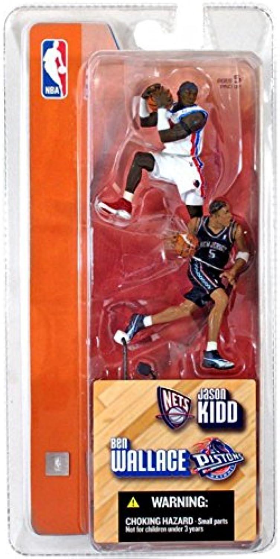 JASON KIDD   NEW JERSEY NETS & BEN WALLACE   DETROIT PISTONS 3 INCH McFarlane's NBA Sports Picks Series 1 Mini Figure 2-Pack