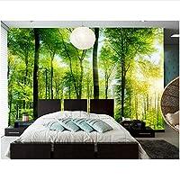 Xbwy 装飾壁画 3 D壁画森の夏の光木の幹自然壁紙、レストランのリビングルームのテレビの壁の寝室カスタム-120X100Cm