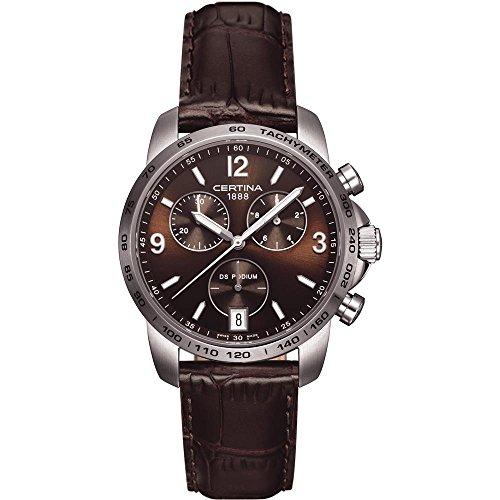 Certina Herren-Armbanduhr XL Chronograph Quarz Leder C001.417.16.297.00