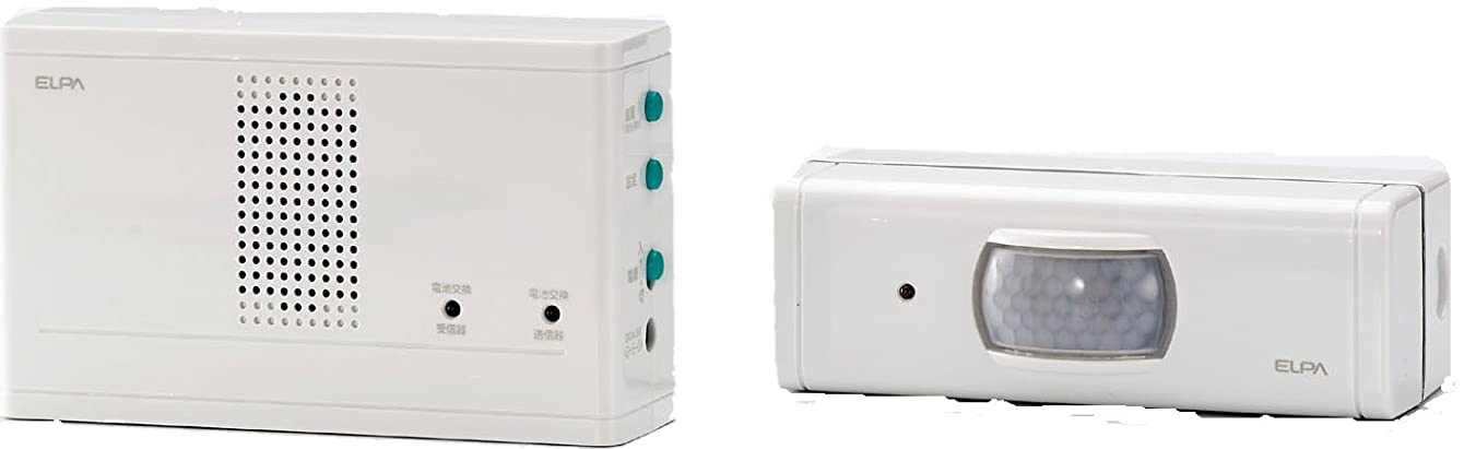 病な石灰岩供給ELPA ワイヤレスチャイム センサー送信器セット EWS-1003