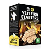 WOODHOT FIRE Starters Natural Tumbleweeds | 12 pcs | - YETI Wood fire Starter for Fireplace, Campfire, Wood Stove, fire Pit, Charcoal Grill, Barbecue Smoker, BBQ