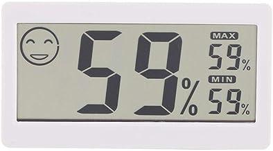 CHICIRIS Termómetro de habitación y Monitor de Humedad, higrómetro Digital, indicador de Humedad Digital para Interiores con luz de Fondo táctil para Oficina en casa