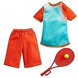 Barbie Ken Career GYB07 - Juego de tenis (incluye pantalones cortos + camiseta + raqueta y pelota)