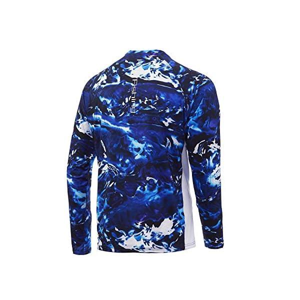 Huk Men's Mossy Oak Pursuit Long Sleeve Shirt | Camo Long Sleeve Performance Fishing Shirt With +30 UPF Sun Protection, Mossy Oak Hydro Reflex, X-Large