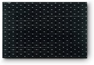 Citta Design 'Tokyo Star' Rectangular Placemats, Ink, Set of Four High Grade Polymer Placemats, 18x12 inches