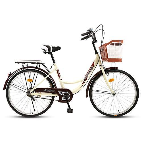 One plus one Premium City Bike in 26 Inches Comfort Bike with Basket And Back Support, Dutch Bike, Ladies Bike, City Bike, Retro, Vintage