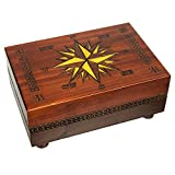 Secret Opening Compass Rose Cartography Box, Enchanted World of Boxes