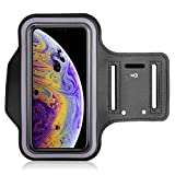 TGK Water Resistant Cell Phone Armband Case for iPhone X, iPhone Xs with Adjustable Band & Key...