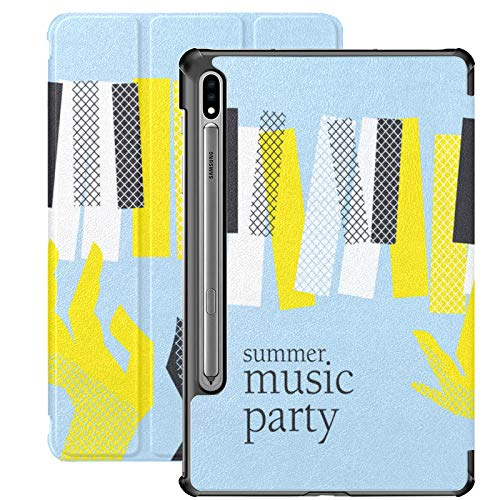 Piano And Piano Keyboard Samsung Galaxy Tab A Case For Samsung Galaxy Tab S7/s7 Plus Samsung S7 Case Stand Back Cover Tablet Cases For Galaxy Tab S7 11 Inch S7 Plus 12.4 Inch