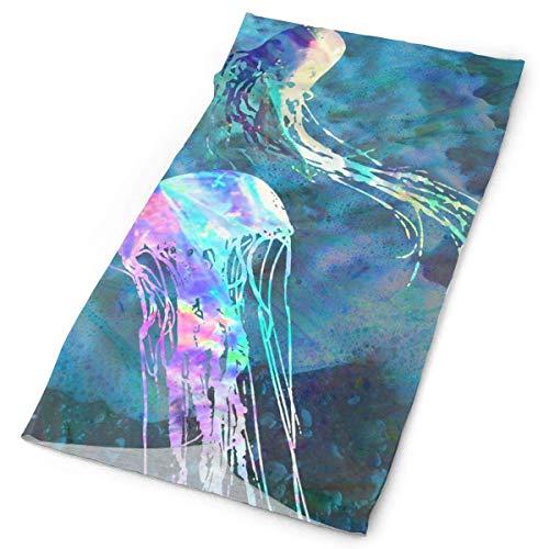 Quintion Robeson Bandana al Aire Libre para la mascarilla de la Boca de Rave Protección contra el Polvo Colorido Mar Medusa Tubo Máscara Headwear Bandana, Mujeres Hombres