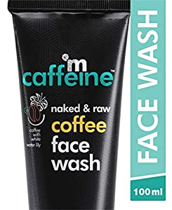mCaffeine Naked & Raw Coffee Face Wash, 100 ml   White Water Lily   Deep Cleanser   Oily/Normal Skin   Paraben & SLS Free