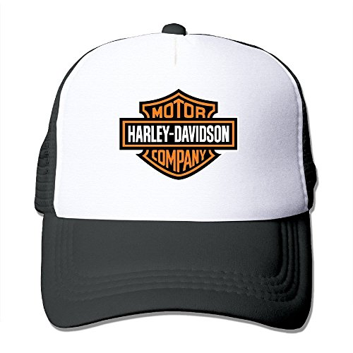 Yhsuk Harley Logo Funny Trucker Hat with Mesh One Size (In 5 Colors) Caps Black