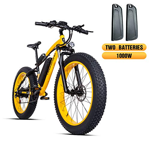 Shengmilo e-bike Elektrische mountainbike, 26 inch, 4.0 Fat Tire E-bike, mountainbike, 1000 W 48 V Moto Shimano 21 Speed dubbele hydraulische schijfrem