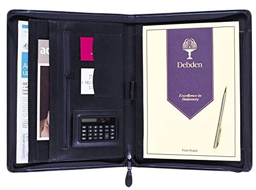 DEBDEN 5115.U99 - Custodia in poliuretano con cerniera, formato A4, colore: Nero