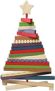 BESTOYARD Árbol de Navidad Giratorio Escritorio de Madera árbol de Navidad creativos - tamaño Grande