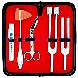 SurgicalOnline Set of 5 pcs Percussion Taylor Reflex Hammer + Penlight + Tuning Fork Medic...