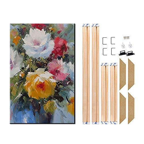 "Leinwand Holz Keilrahmen Gemälde Holzrahmen für Galerie Wrap Ölgemälde Poster Modern Life Zubehör Home Decor 50x50cm/20""x20"""