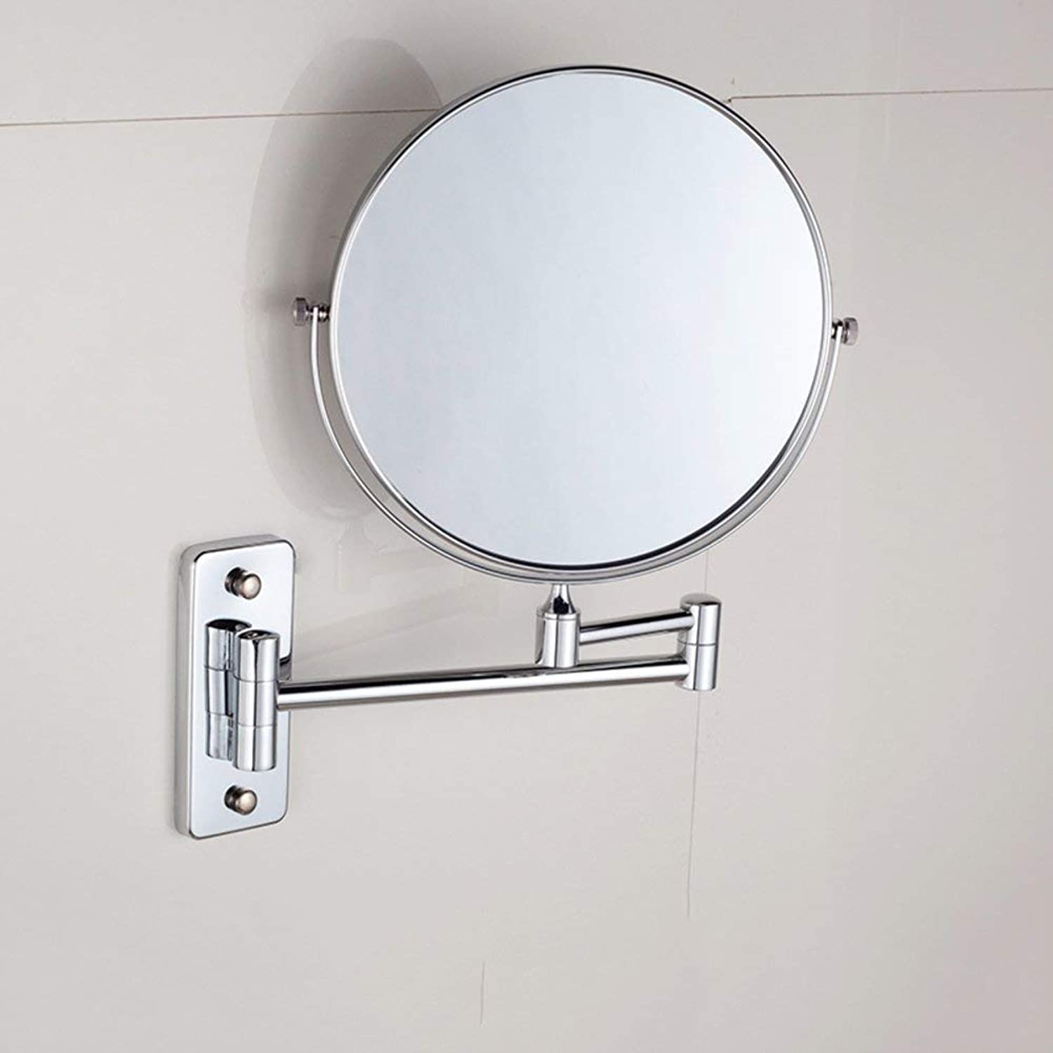 Extendable Makeup Mirror,Bathroom Wall Hanging Make-up Mirror Double - Sided Zoom redation Folding telescopic-A-15cm (color   A-15cm, Size   -)