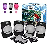 CKE Kids Knee Pad Elbow Pads Guards for Boys Girls 7-14 Year Old Kids Protective Gear Set for Skating Cycling Bike Rollerblading Scooter