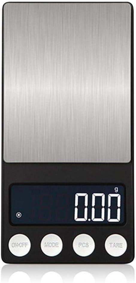 Báscula digital de joyería de bolsillo, suministro de baterías, básculas electrónicas LED planas portátiles con bandeja 300/500 0,01/0,1g 300g 0,01g