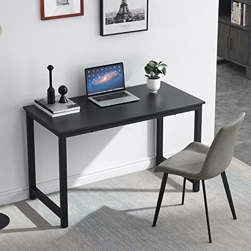 HJhomeheart Escritorio de Oficina Escritorio de computadora Madera Mesa de Escritorio Ordenador 120 * 60 * 74cm, Mesa de Oficina/Estudio para Ordenador, Negro