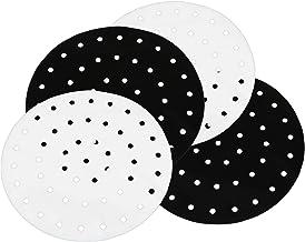 HEMOTON 4Pcs Esteiras Forros Reutilizável Silicone Antiaderente Fritadeira Ar Fritadeira Ar Fritadeira Ar Acessórios para ...