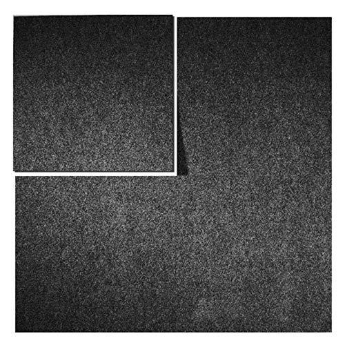 Teppichfliesen Can Can | selbstliegend | Rücken: Bitumen, rutschhemmend | Bodenbelag für Büro und Gewerbe | 50x50 cm | 5 Farben (Anthrazit)