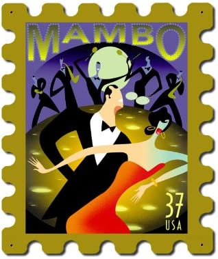 """Dance Mambo Vintage Sign """"Made Ultra-Cheap Deals in with USA The Heavy Gauge Steel Excellent"""