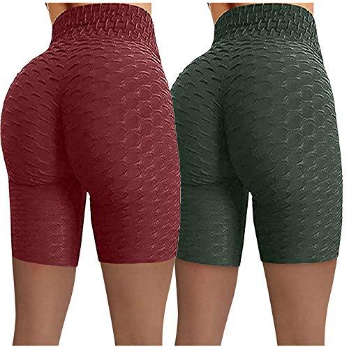 ayaso Leggings deportivos de cintura alta, pantalones de yoga, opacos, pantalones cortos para correr, fitness, jogging, pantalones cortos para mujer, pantalones de deporte de cintura alta