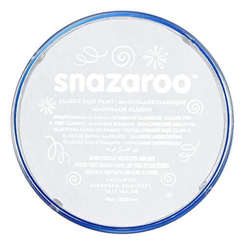 White Snazaroo Face Paint. Add to your Thriller Costume for a zombified look.