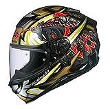 オージーケーカブト(OGK KABUTO)バイクヘルメット フルフェイス AEROBLADE5 KNIGHT(ナイト) ブラックゴールド (サイズ:L)