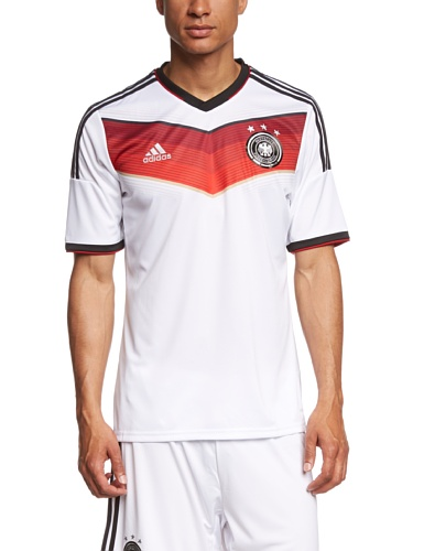 adidas Herren Trainingsshirt DFB Trikot Home WM, White/Black/Victory Red/Matte Silver, XL