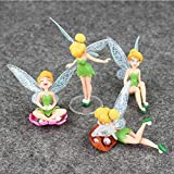 Modelo De Anime4Pcs / Lot Tinkerbell Fairy Action Figure Set Beauty Elf Model Dolls Gift para Niños Y Niñas 3-10Cm