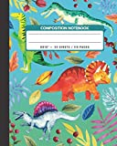 "Composition Notebook: Triceratops / Plateosaurus / Baryonyx / Spinasaurus Dinosaur - Zoo Animals Exercise Book & Journal , Back To School Gifts For ... Boys Kids Friends Students 8x10"" 110 Pages"