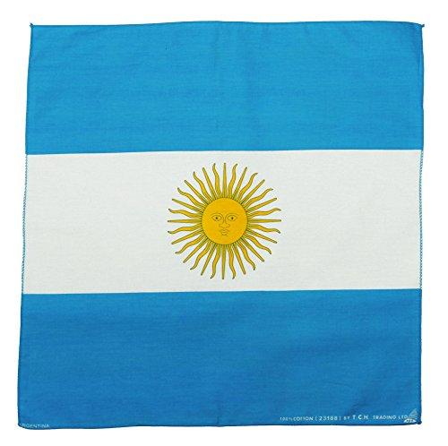 Tuch Serviette Drapeau Argentine Bandana Foulard env. 51 x 51 cm Imprimé D'un Seul Côté