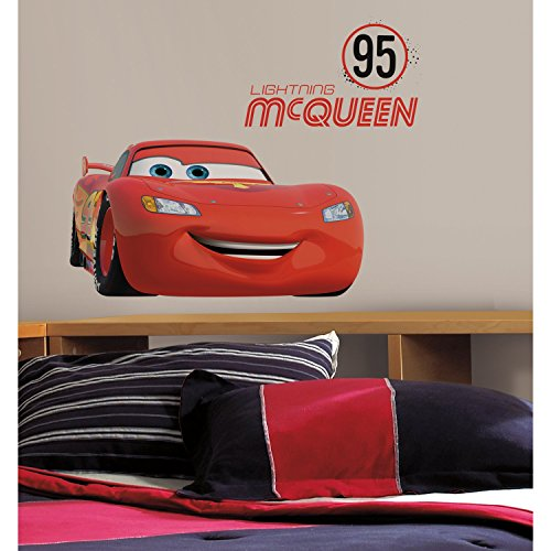 Thedecofactory rmk2589gm Lightning McQueen Number 95Peel And Stick Giant Wall Decals riposizionabili, Vinile, Multicolore, 104x 46x 0,1cm